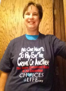 Gretchen in Challenge T-shirt