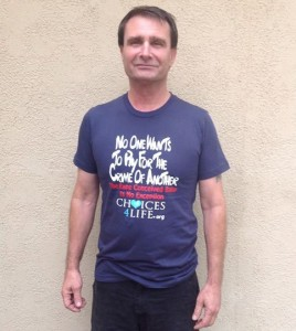 richard in Challenge T-shirt