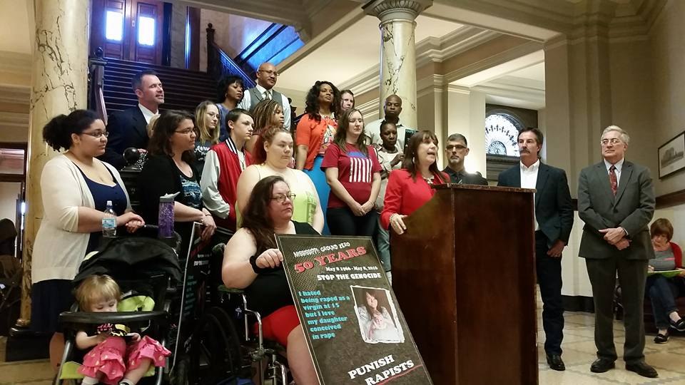 Press Conference MS State Capitol with Mothers and Children Conceived in rape