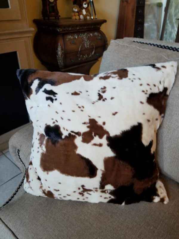 "Minky Longhorn Front/back Pillow 24"" x 24"""