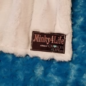 "Minky4Life Teal Rose/ Faux Chinchilla 50""x60"