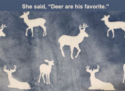 Minky Deer Fabric His favorite